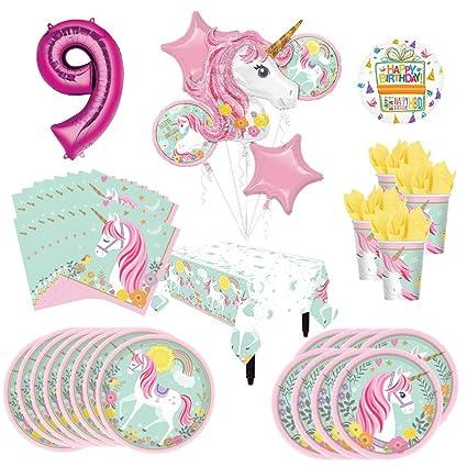 Amazon.com: Un unicornio mágico suministros para fiestas 8 ...