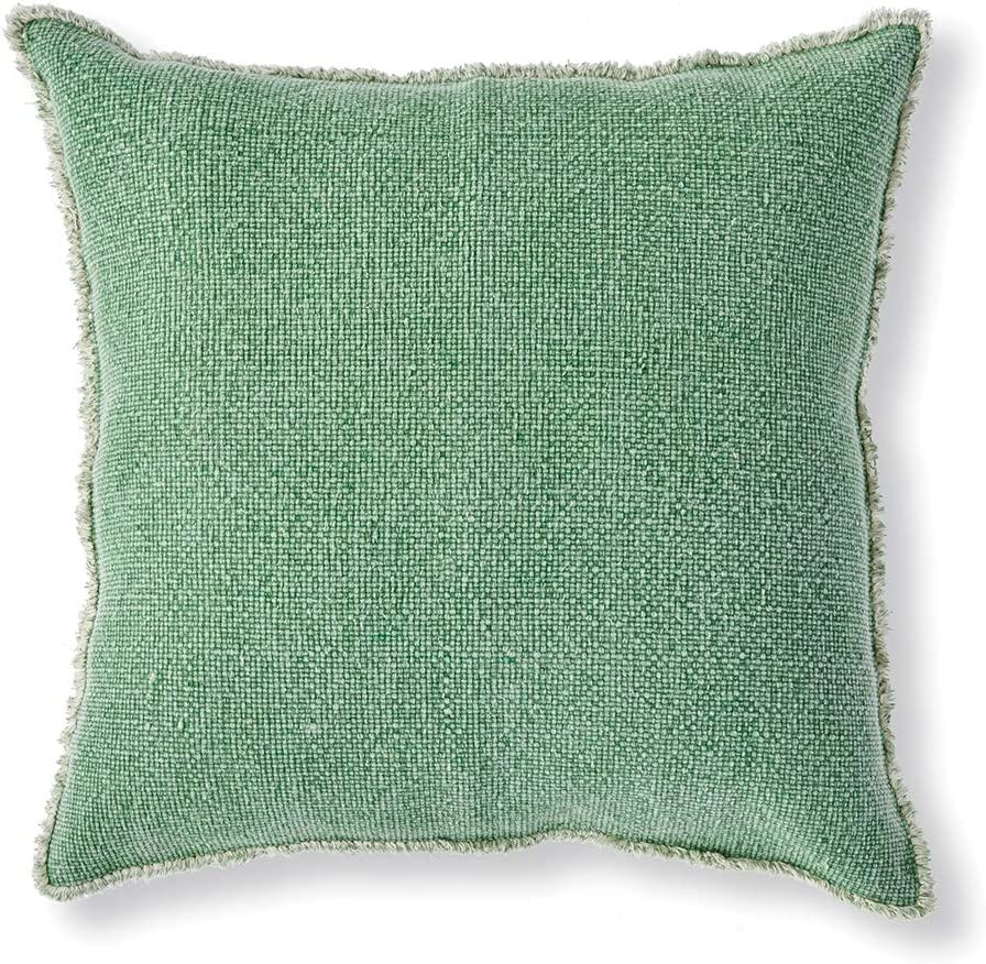 "Napa Home & Garden Woven Fringed 26"" SQ Euro Pillow"