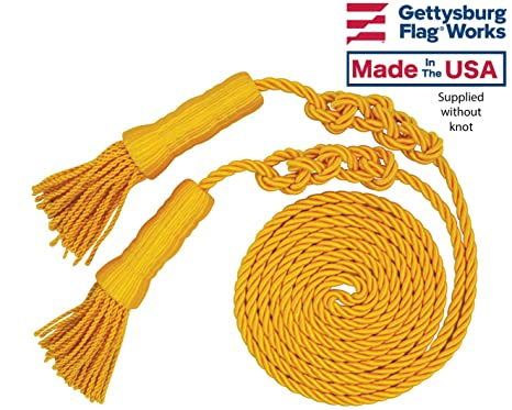 Gold Cord and Tassels for 3x5' Indoor or Parade Flag Display