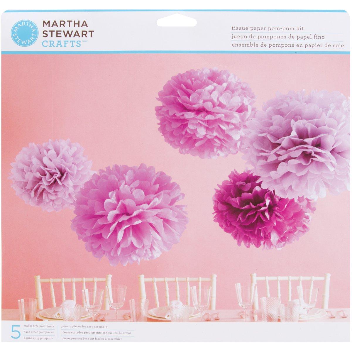 Martha Stewart Tissue Paper Pom Kit Makes 5 Purple Amazon Co Uk