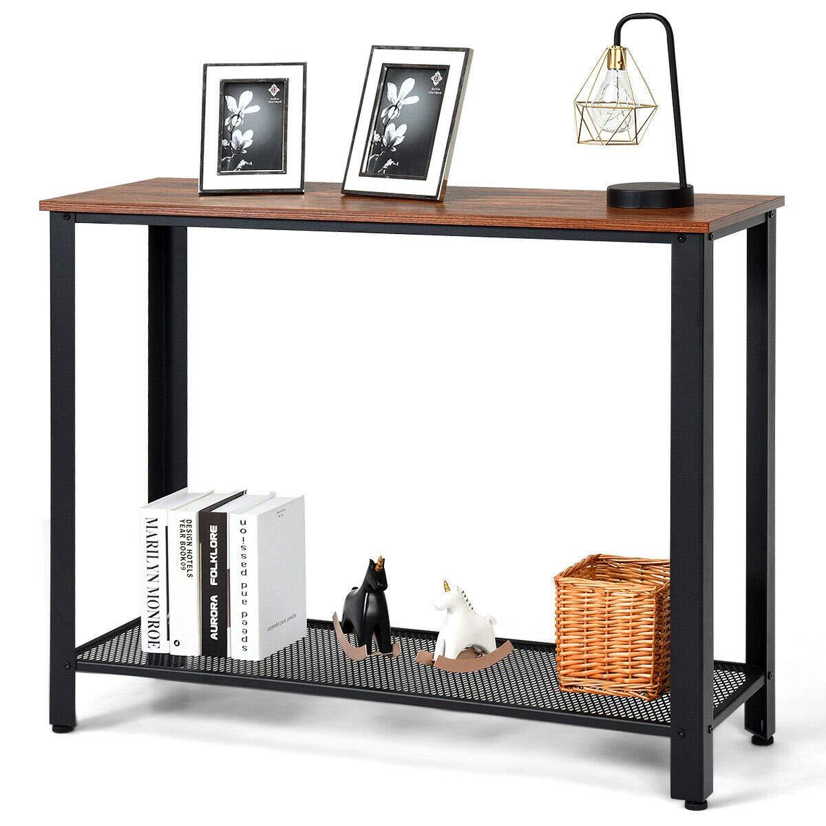 Amazon.com: Black Console Sofa Table Coffee Table W/Storage ...