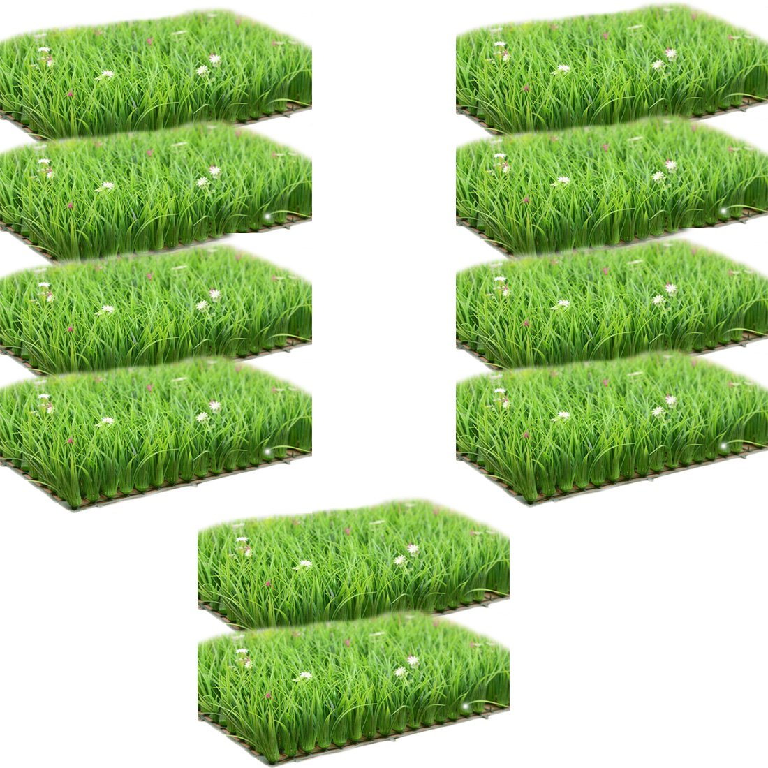 lewu ウォールグリーン マット 壁掛け 造花 人工観葉植物 インテリア アンティーク 雑貨 40x60cm/枚 (10枚入れ) B075R35F3Q