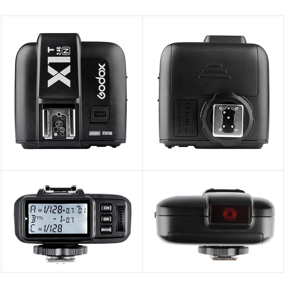 Godox X1N Flash D/éclencheur Kit Emetteur 2* R/écepteur TTL Sans Fil pour Nikon DSLR Cam/éras