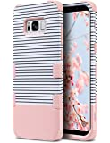 Galaxy S8 Plus Case,ULAK Anti Slip S8 Plus Case Shock Resistance Protective Cover for Samsung Galaxy S8+ Plus (2017) with Hybrid High Soft Silicone + Hard PC Case(Rose Gold Stripes)