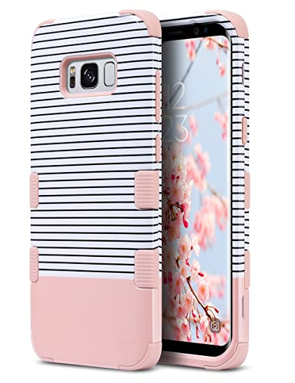 buy popular 19f5e c974a ULAK Galaxy S8 Plus Case, Anti Slip S8 Plus Case Shock Resistance  Protective Cover for Samsung Galaxy S8+ Plus (2017) with Hybrid High Soft  Silicone + ...