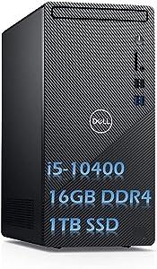 2020 Newest Dell Inspiron 3880 High Performance Desktop Intel Core i5-10400 16GB DDR4 Memory 1TB PCIE SSD WiFi HDMI Windows 10 DVD