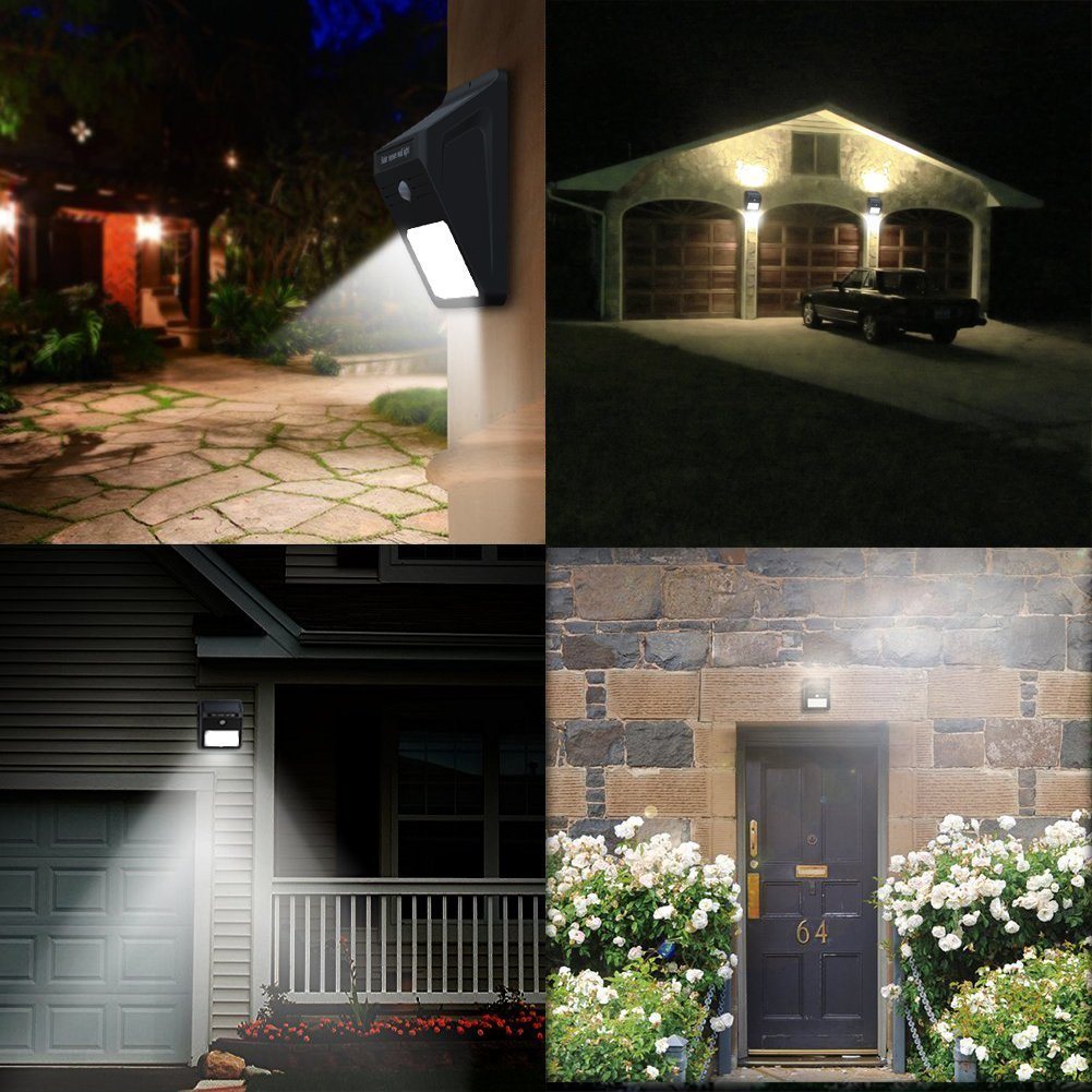 Mulcolor 12 LED Solar Lights Waterproof Solar Powered Motion Sensor Light Wireless Led Security Lights Outdoor Wall Light … by Mulcolor (Image #6)
