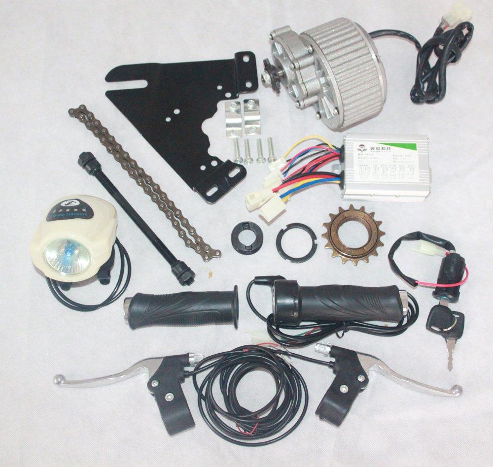 24ボルト250ワット電動自転車変換キット電動スクーターバイクgngebikeキット電動モーターmy1018 (サイドマウント) [並行輸入品] B077QGN8M8