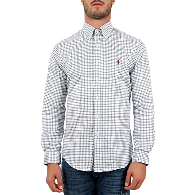 Ralph Lauren - Chemises - Chemise à Carreaux Logo Rouge  Amazon.fr ... d954276c9cc