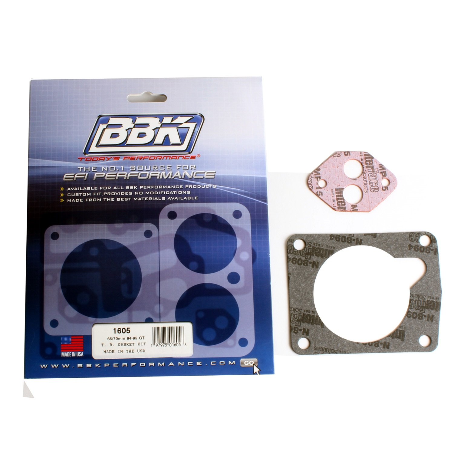 BBK 1605 65/70mm Throttle Body Gasket Kit for Ford Mustang 5.0L