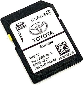 Tarjeta SD para 2019/2020 Toyota Navigation Tarjeta SD Mapa TNS510 V1. Cover All Europe, Número de pieza: PZ445-SD333-0S: Amazon.es: Electrónica