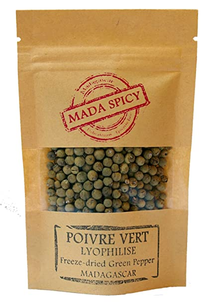 """Pimienta verde en grano « liofilizada » de Madagascar 150g """" Gourmet Calidad """". Bolsita"""