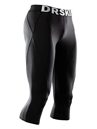 605a1bd42baf6 DRSKIN 1~3 Pack Men's 3/4 Compression Tight Pants Base Under Layer Running  Shorts Cool Dry (Packs of 1, 2, or 3 Deals)