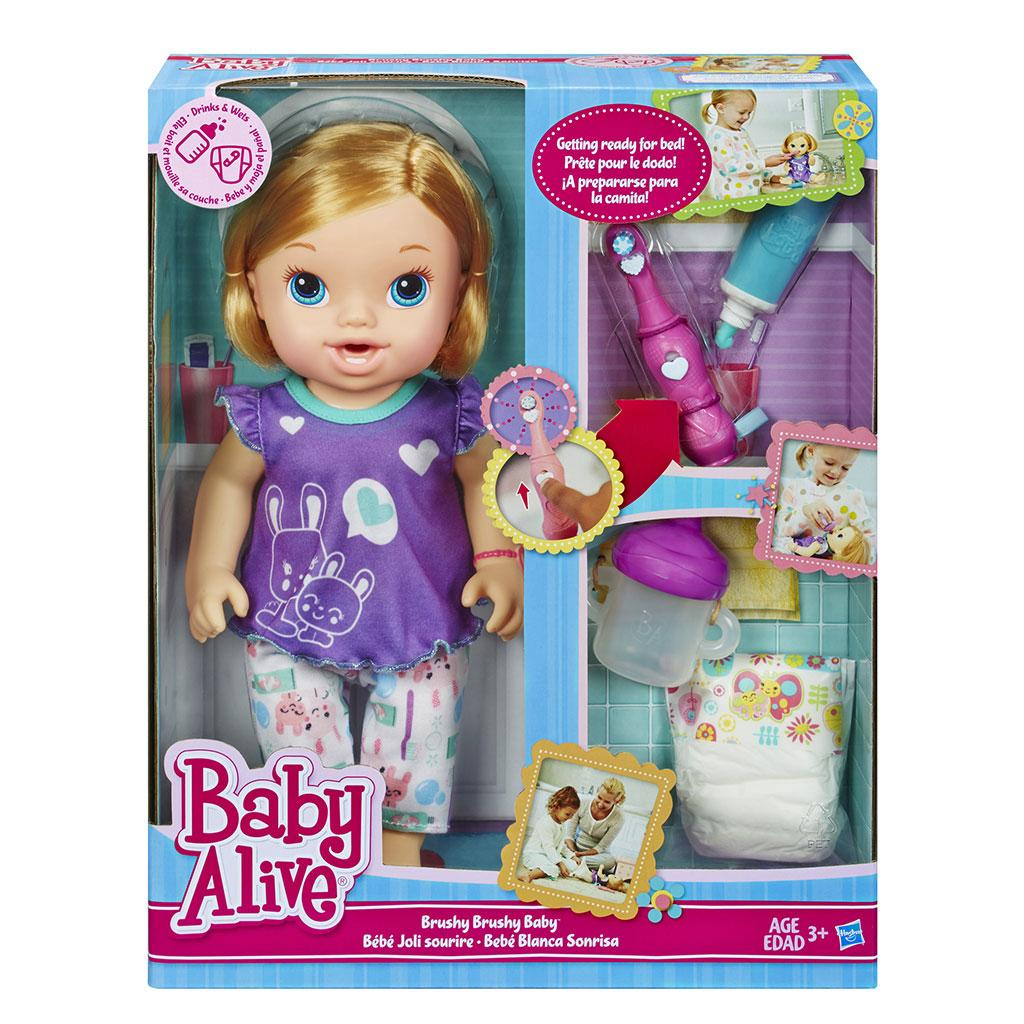Baby Alive Toys : Amazon baby alive brushy doll blonde