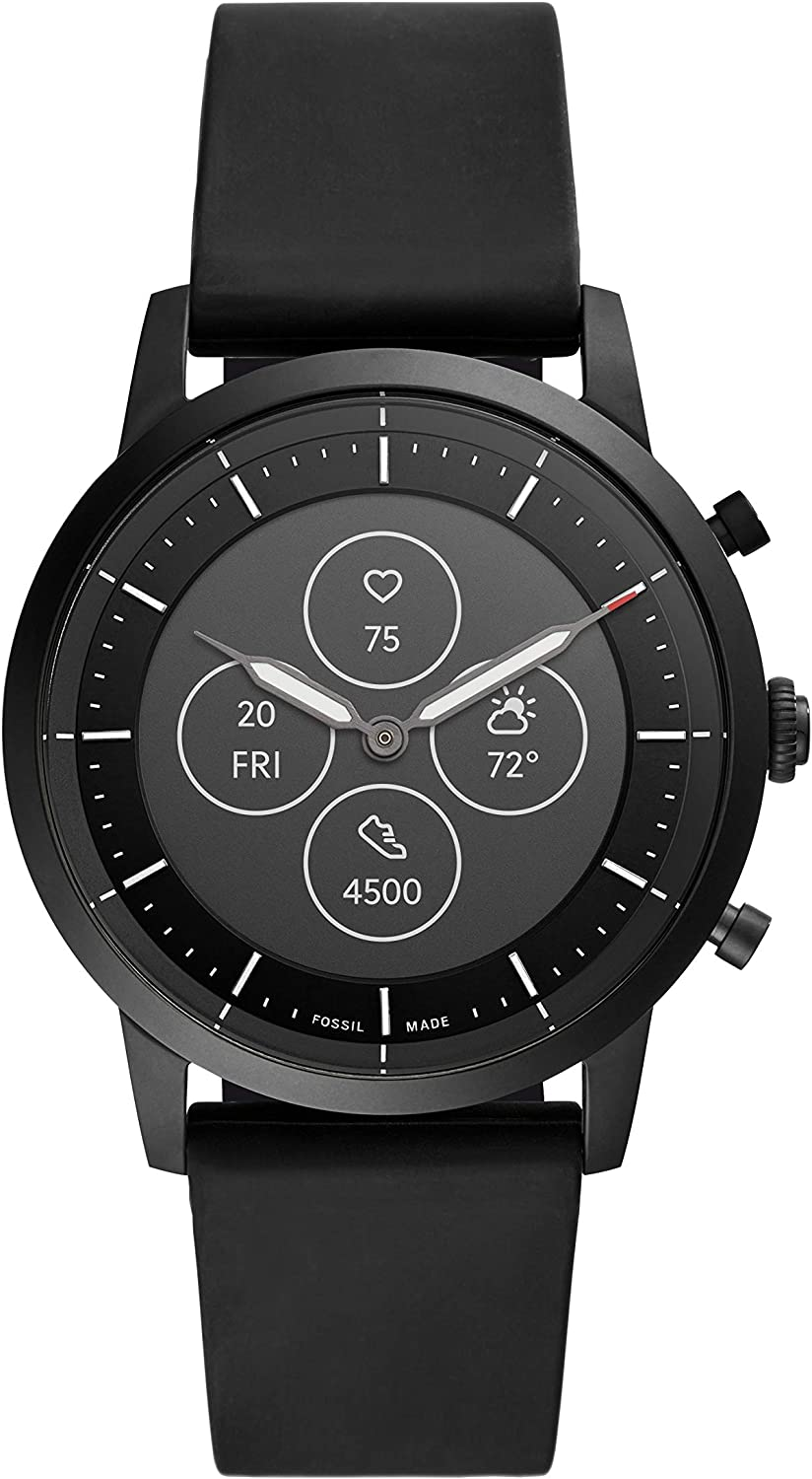 Fossil Men s Collider HR Heart Rate Stainless Steel Hybrid Smartwatch