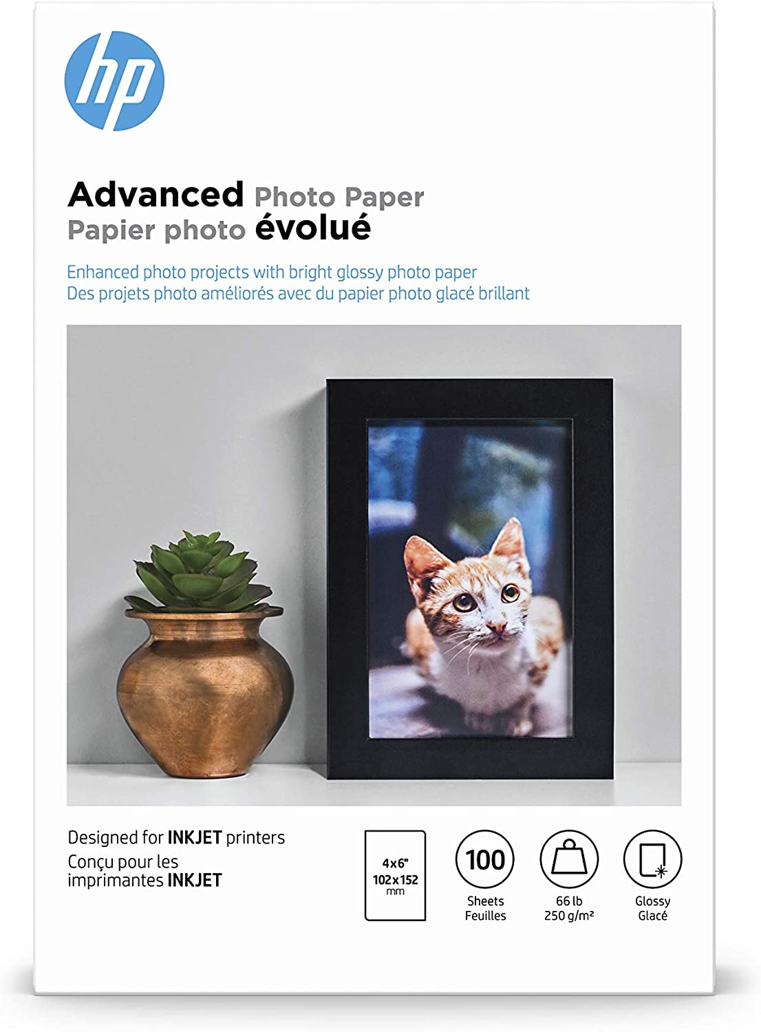 HP Advanced Photo Paper | Glossy | 4x6 | 100 Sheets