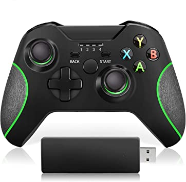 VOYEE Mando inalámbrico Mejorado Gamepad para Xbox One/One S/ One X/ One Elite/ PS3/ Windows 10 | Vibración Dual: Amazon.es: Electrónica