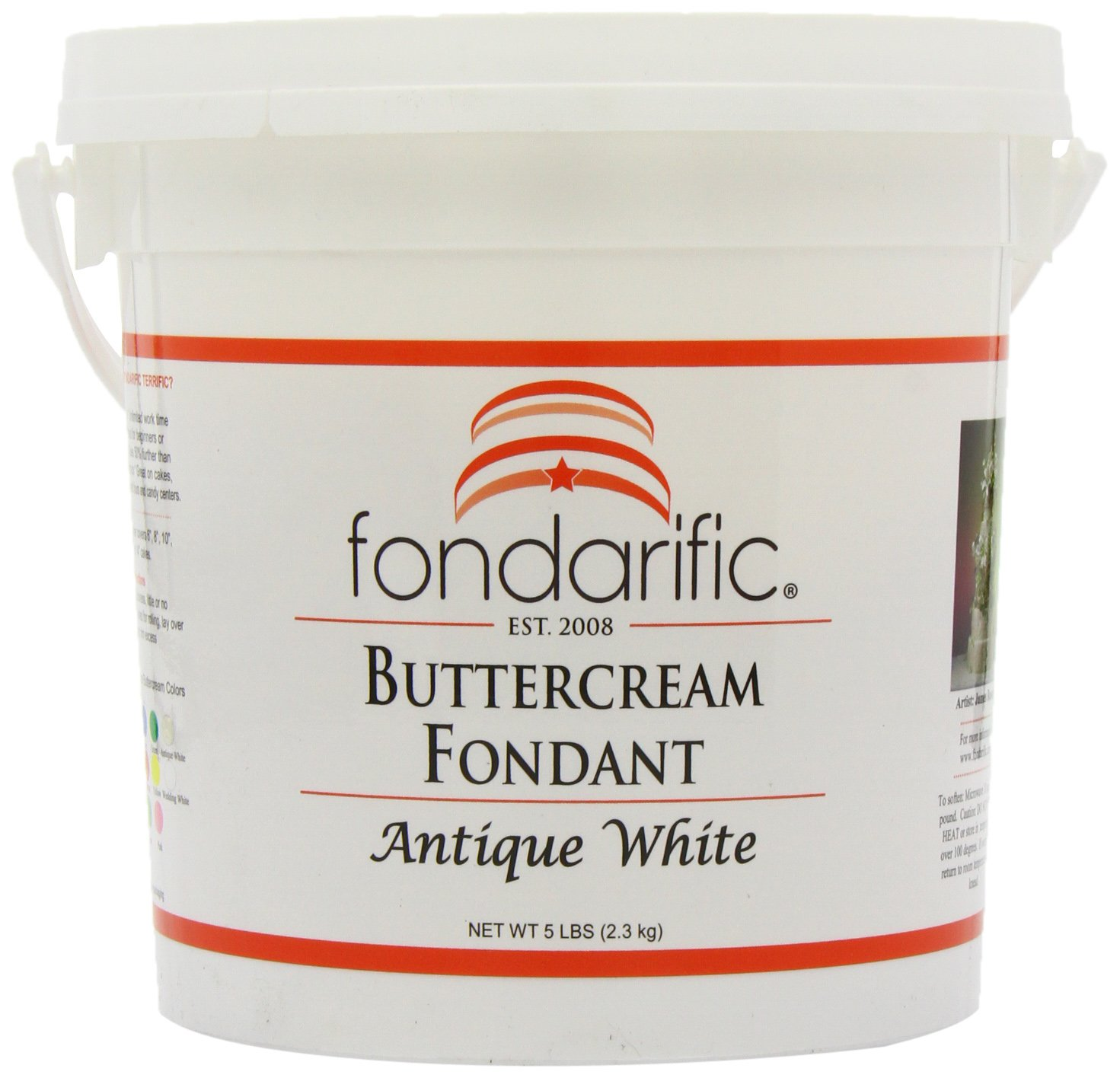 Fondarific Buttercream Antique White Fondant, 5-Pounds