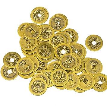 Amazonde Chinesische I Ging Münzen Aus Messing Für Feng Shui 27