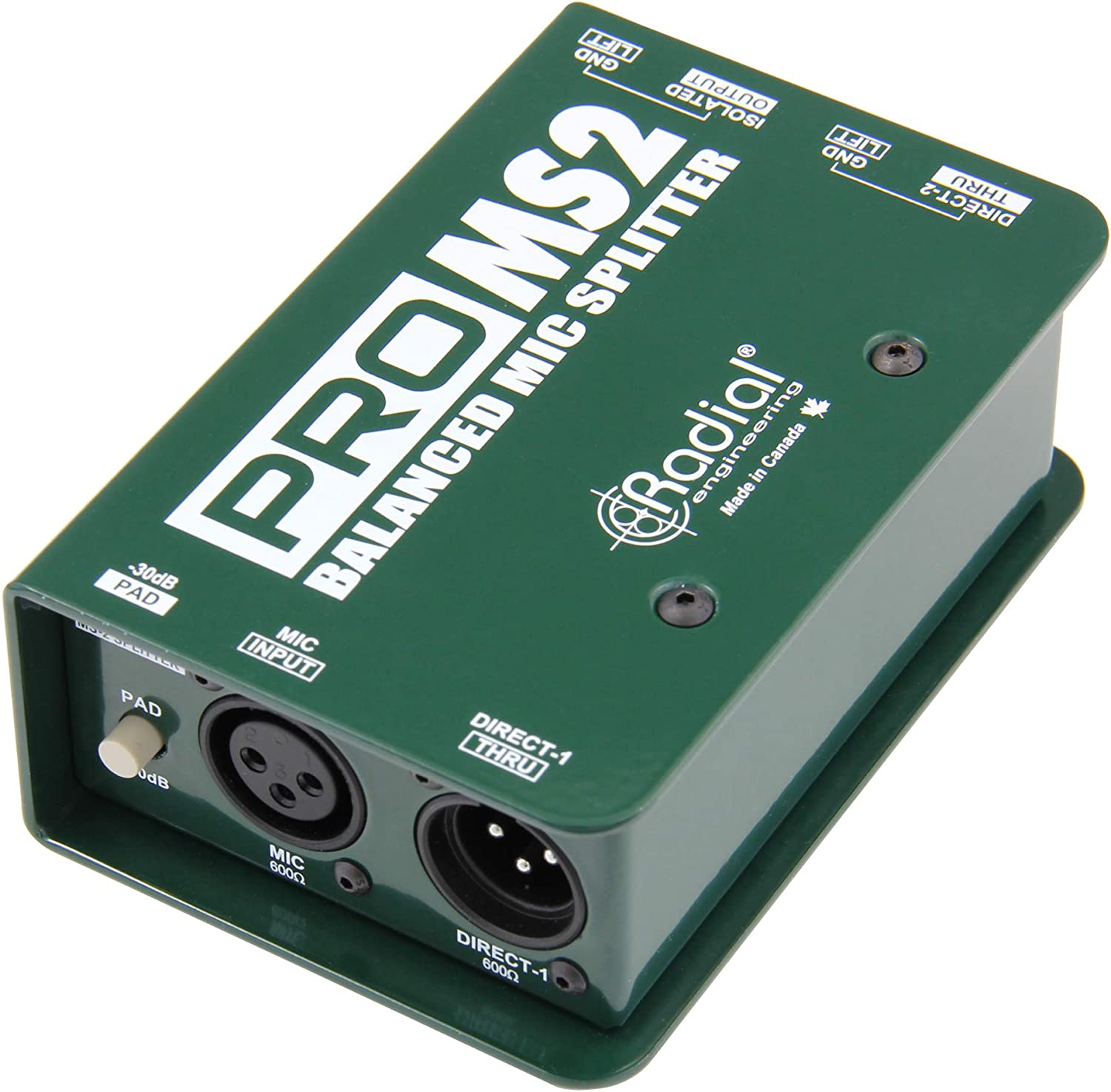 Radial ProMS2 Passive Microphone Splitter Low-noise 1-in/3-out ...
