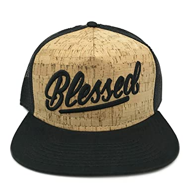 Risen Apparel Blessed Cork Trucker Hat Snapback by at Amazon Men s ... 4768940b76cc