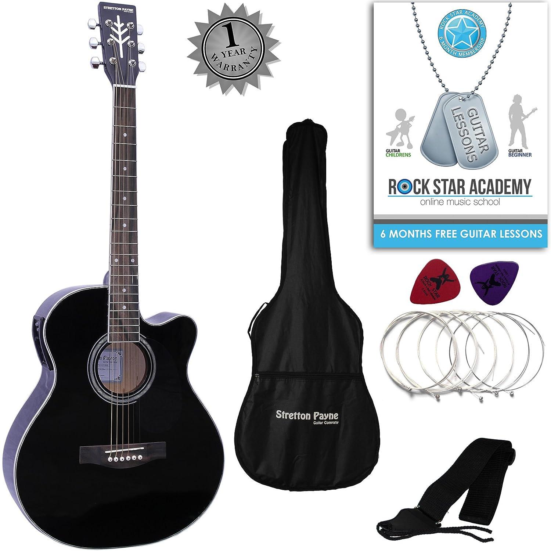 Stretton Payne Grand Auditorium - Guitarra eléctrica acústica: Amazon.es: Instrumentos musicales