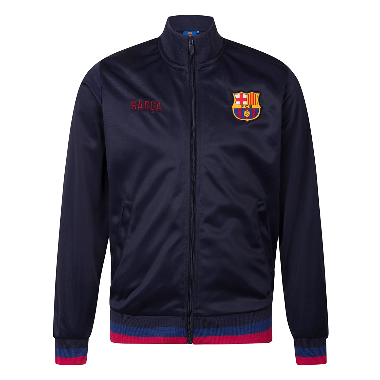 FC Barcelona Official Football Gift Boys Retro Track Top Jacket