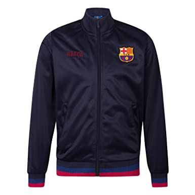 c3c4b7d09 FC Barcelona Official Soccer Gift Mens Retro Track Top Jacket at Amazon Men's  Clothing store: