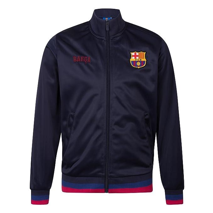 FC Barcelona - Chaqueta de entrenamiento oficial - Para hombre - Estilo retro: Amazon.es: Ropa y accesorios