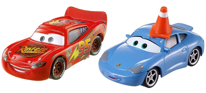 DISNEY CARS DIECAST-Sally avec cône /& Lightning McQueen-version 2017
