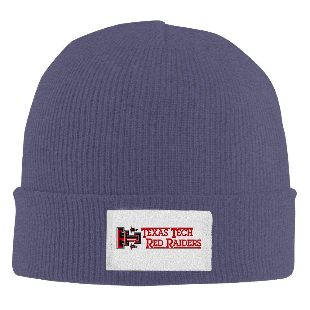 Amone Texas Tech Red Raiderse Winter Knitting Wool Warm Hat Black
