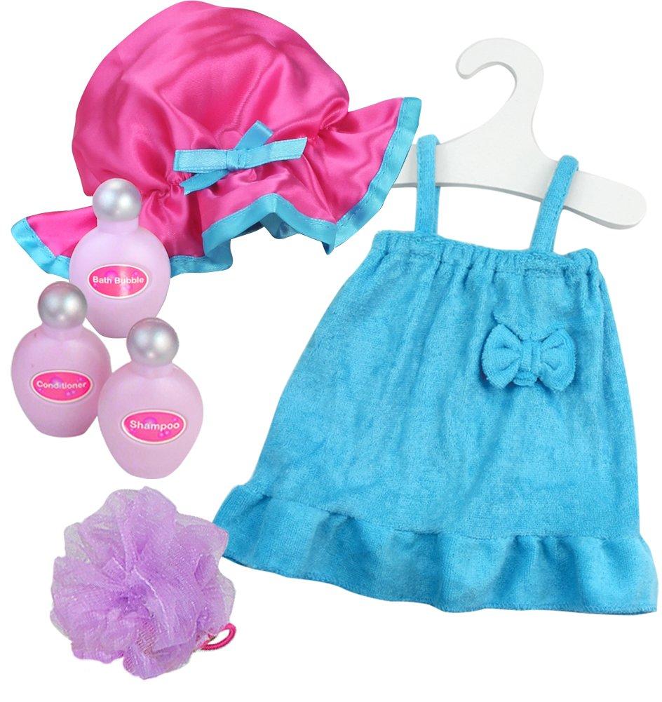 Amazon.com: 18 Inch Doll Bathtub with Shower, Pink Clawfoot Tub Made ...