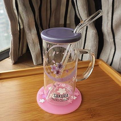 WU-Mug Creativo Personalizado Resistente al Calor de la Taza de café de Vidrio con