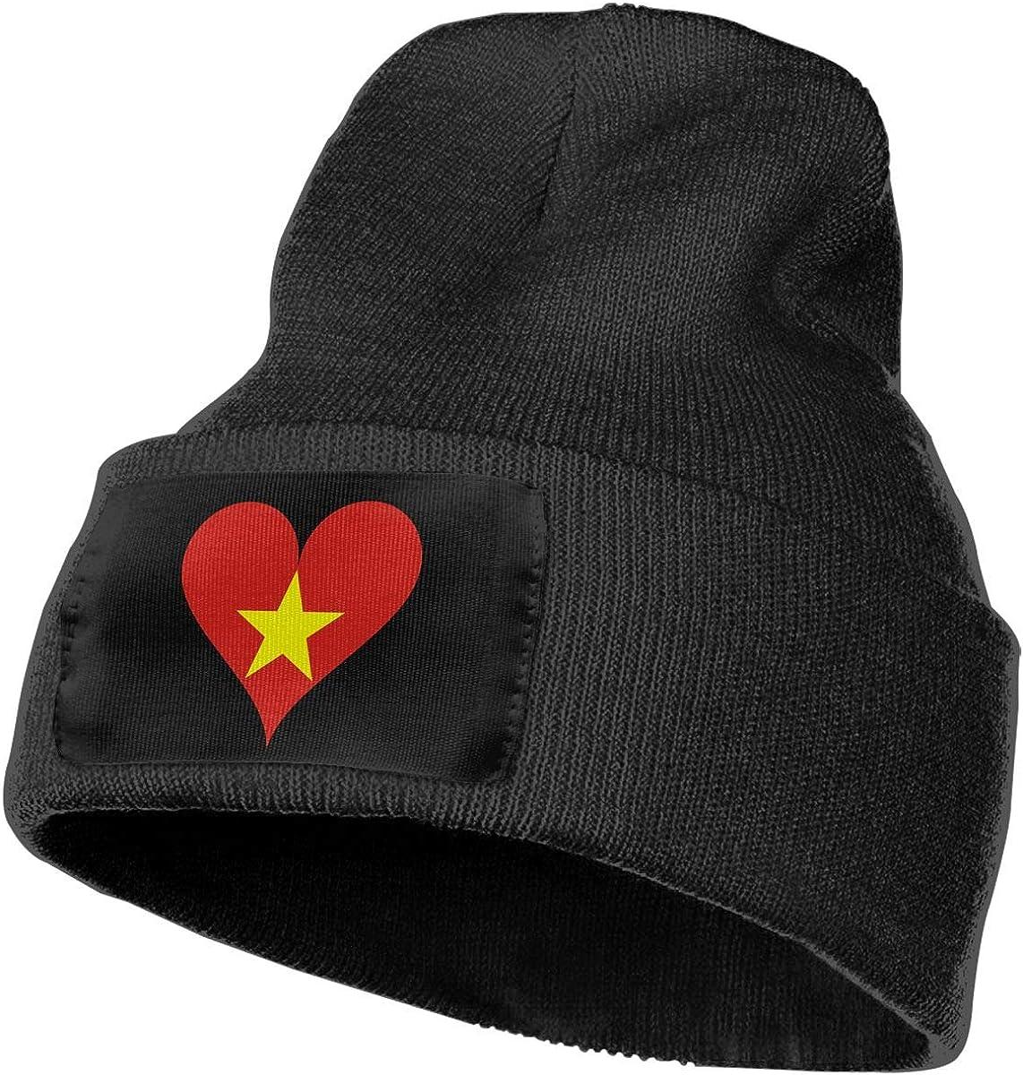 SLADDD1 Vietnam Heart Warm Winter Hat Knit Beanie Skull Cap Cuff Beanie Hat Winter Hats for Men /& Women
