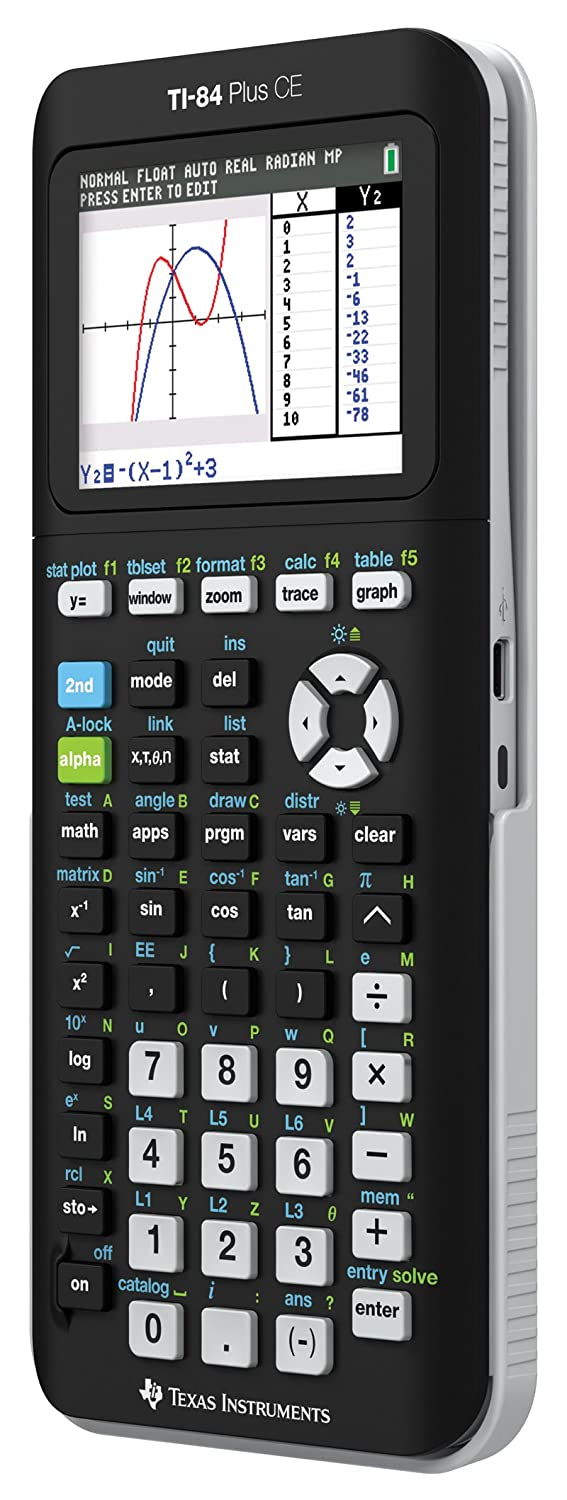 Amazon texas instruments ti 84 plus ce graphing calculator amazon texas instruments ti 84 plus ce graphing calculator black electronics ccuart