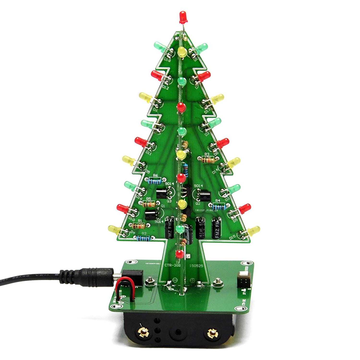 Amazon.com: Gikfun 3D Christmas Trees LED DIY Kit Flash LED Circuit ...