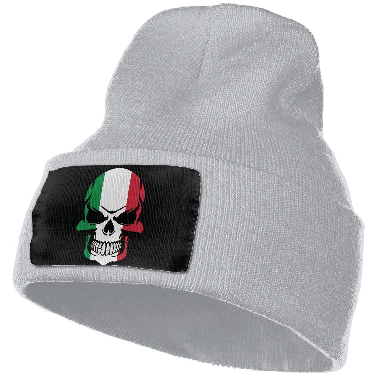 100/% Acrylic Skull Cap MXMAOM9MX Italian Flag Skull Warm Knitting Hat Mens Womens