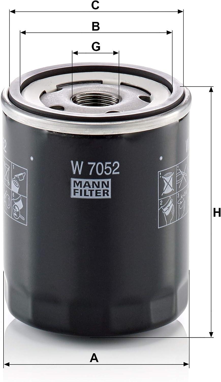 Original Mann Filter Ölfilter W 7052 Für Pkw Und Transporter Auto