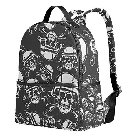 Amazon.com: Mochila escolar Skull In A casco militar 1th 2th ...