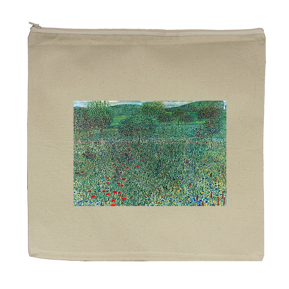 Female Act With Animals (Klimt) Canvas Zipper Tote Bag Makeup Bag