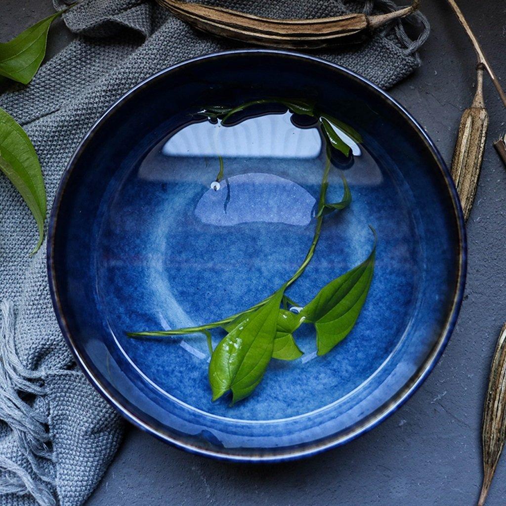 Vintage Farbverlauf blau Keramikschale kreative Home Besteck Ramen Suppensch/üssel gro/ße Sch/üssel