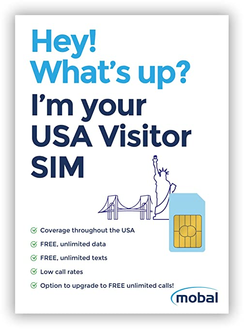Amazon.com: EE. UU. Visitor by mobal tarjeta SIM. Unlimited ...