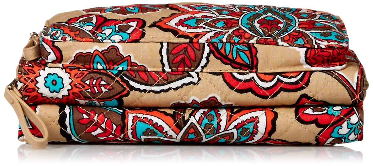 Vera Bradley Iconic Deluxe All Together Crossbody, Signature Cotton, Desert Floral by Vera Bradley (Image #4)