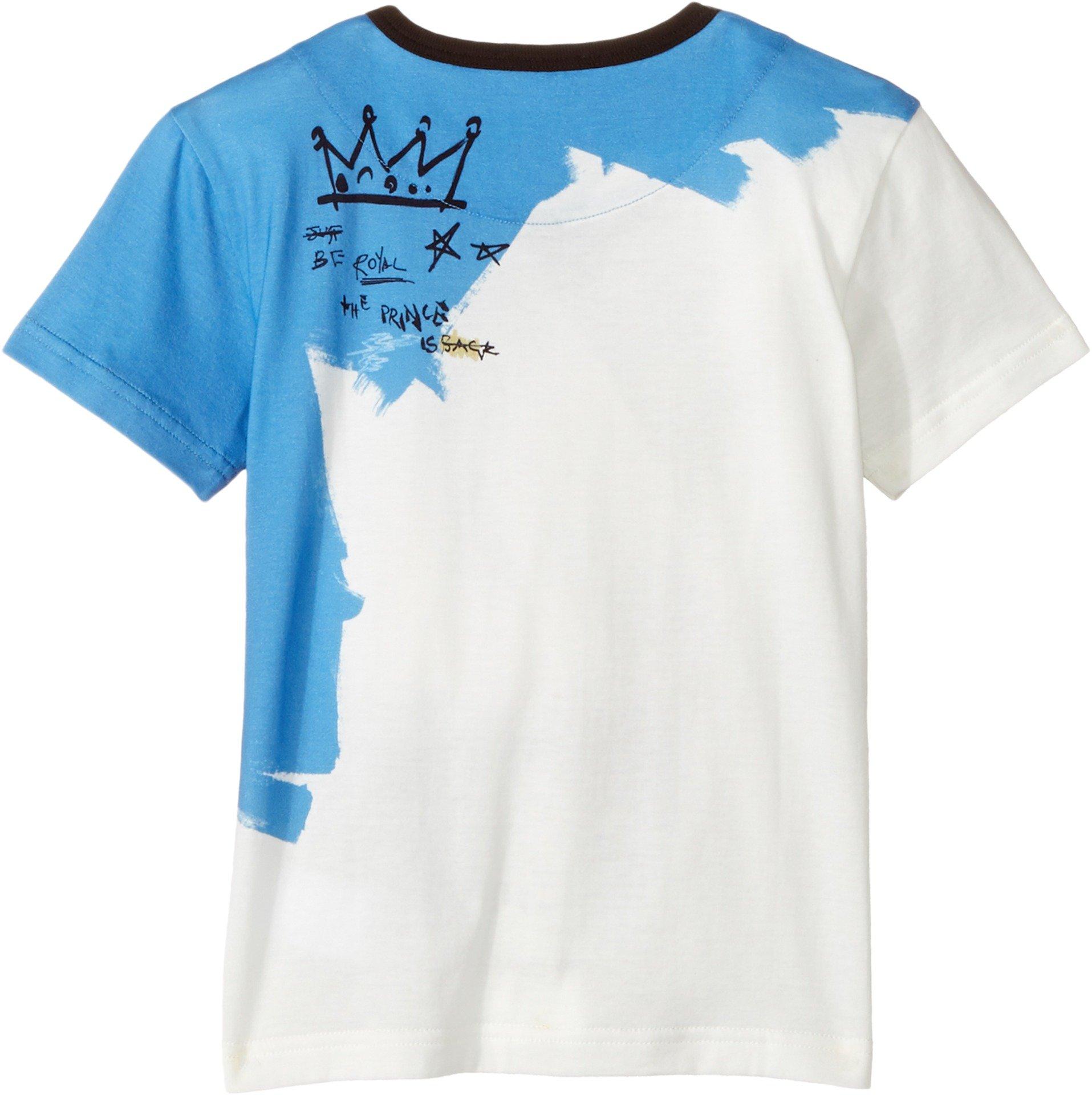 Dolce & Gabbana Kids Baby Boy's Just Be Royal T-Shirt (Toddler/Little Kids) White Print 4T