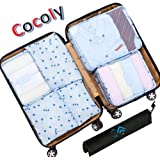 Cocoly 7pcs travel Organizers Packing Cubes Luggage Organizers Compression Pouches