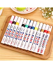 Sungpunet Lot 13 Color Permanent Paint Pen Marker Rubber Wood Metal