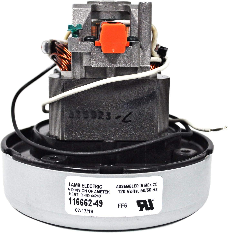 Ametek Lamb 5.7 Inch 1 Stage 120 Volt B//B Thru-Flow Motor 116662-49