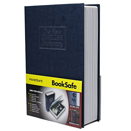 SEPOX UK Book Safe, English Dictionary Style Book Safe with Key Lock