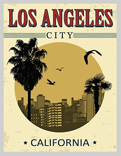 Los angeles city usa label home decal vinyl sticker 11