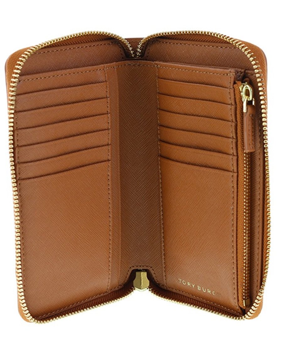 Tory Burch Robinson Mini Continental Saffiano Leather Wallet, Style No 34411 (Luggage) by Tory Burch (Image #3)